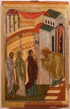 Presentation of Our Lord and Savior Jesus Christ into the Temple Jesus In The Temple, Temple In Jerusalem, Liturgical Seasons, Gospel Of Luke, Russian Icons, Byzantine Icons, Orthodox Icons, Medieval Art, Sacred Art
