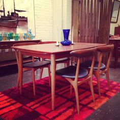 Rare teak dining set by Kurt Ostervig for by Midcenturyville