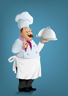 Vector Chef Illustration by Milan Vukelić, via Behance Chef Kitchen Decor, Kitchen Wall Art, Kitchen Ideas, Rustic Kitchen, Chef Pictures, Art Pictures, Cuisinières Vintage, Cooking Chief, Ribbon Png