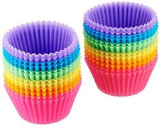 Silcook Silicone Baking Cups/Muffin Molds/Cupcake Liners - 12 Cup Set to Use with or Replace Muffin Pan/Tin (Purple) Silicone Cupcake Liners, Cupcake Cases, Single Serve Brownie, Oreo, Boutique Patisserie, Individual Cheesecakes, Strawberry Muffins, Homemade Muffins, Gourmet