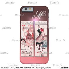 HAIR STYLIST ,FASHION BEAUTY SALON MAKE UP ARTIST BARELY THERE Pink iPhone 6 CASE