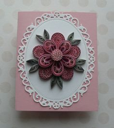 A beautiful Mini handmade quilled card with flowers, Perfect greeting card for various occasions like Birthday, Mothers Day, Anniversary, Congratulations or a simple Thank You. ♦ Size of card: 10,5 cm x 13 cm. ♦ Has blank white liner inside for your own sentiments. Suitable for any