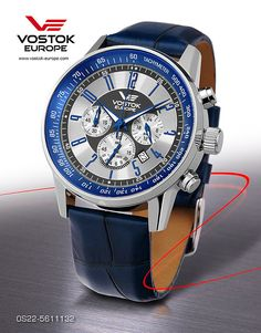 Vostok Europe Gaz-14 Limousine Chrono Silver/Blue Watch OS22/5611132