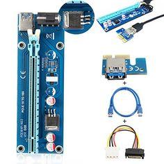 From 8.88:Elegiant Usb 3.0 Pci-e Pci-e 1x Riser Board Express To 16x Pci-e Mining Machine Enhanced Adapter  Sata 15 Pin-4pin Power Adapter Cable