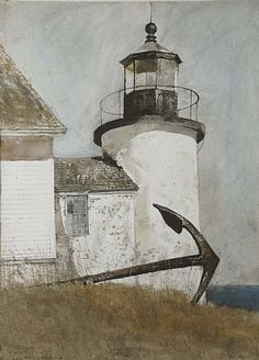 Andrew Wyeth (b. Deserted Light signed 'Andrew Wyeth' (lower right) watercolor and pencil on paper x 22 in. Jamie Wyeth, Andrew Wyeth Paintings, Andrew Wyeth Art, Images Vintage, Wow Art, Art Plastique, American Artists, American Realism, Les Oeuvres