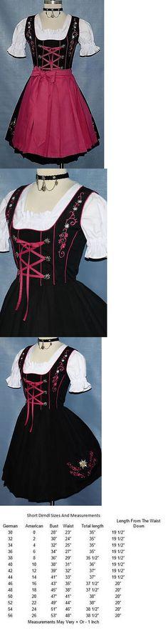 Dirndls 163143: Dirndl Waitress Oktoberfest German Short Dress Embroidered 3 Pieces Complete Set -> BUY IT NOW ONLY: $109 on eBay!
