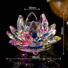 Colorful Quartz Crystal Glass Lotus Flower natural stones and minerals Feng shui Crystals flowers For Home wedding souvenirs Feng Shui Ornaments, Reiki, Designer Bags Sale, Feng Shui Crystals, Feng Shui Art, Victorian Flowers, Glass Paperweights, Home Wedding, Zen Wedding