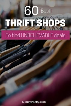 Wanna save money on designer brands, clothes, furniture, books and more? Start shopping at these thrift stores near you. Thrift Store Shopping, Thrift Store Crafts, Thrift Stores, Shopping Hacks, Frugal Living Tips, Frugal Tips, Store Hacks, Inexpensive Furniture, Early Retirement