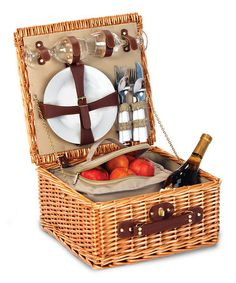 Baxter Two-Person Picnic Basket #zulily #zulilyfinds - love this for date night with hubby!