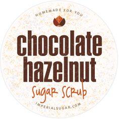 Hazelnut Chocolate Sugar Scrub Label