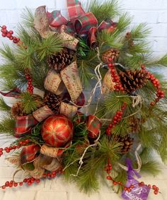 Our Fabulous Faux Alpine Greenery Wreaths Are Adorned In Holiday Colors And Trim Greenery Wreath
