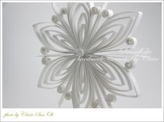 Claire's paper craft: Snowflake