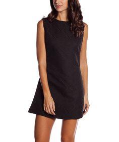 Black Textured Sheath Dress