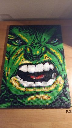 Hulk..hama pearls by Piazobel100