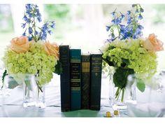 Centros mesa boda hipster de libros