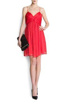 MANGO - CLOTHING - Dresses - Chiffon draped dress