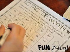 Fun in First Grade: Sight Word Games