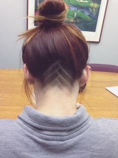 Women's shaved undercut hair