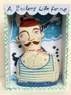 Boxed Sailor Art Doll Hanging by samanthastas on Etsy