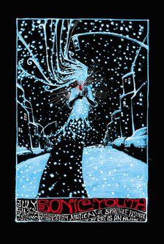 poster; silkscreen; Malleus Rock Art Lab - Sonic Youth