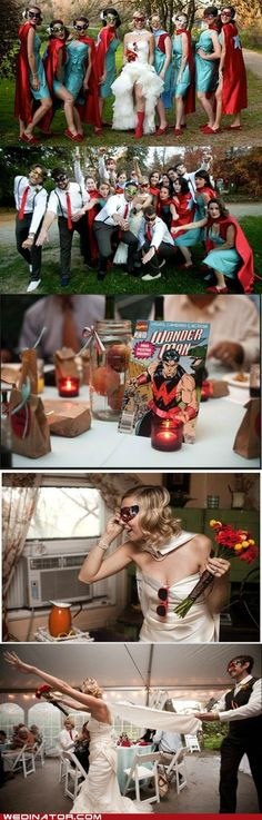 Classic: Super Wedding! HECK YES! And she walks in with a cape!? OMG. Doing this!