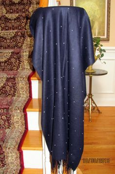Navy Evening Shawl Brilliance