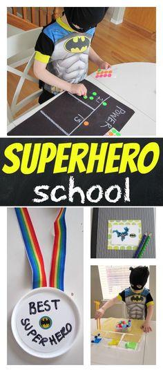 super hero school quite time activities