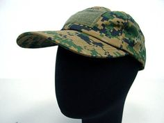 Velcro Patch Baseball Hat Cap Digital Camo Woodland by AirSoft. $9.99. FEATURES: Military style baseball cap. 3 velcro ends for patch attachment. Adjustable velcro strap at the back for size adjust. Made by 35% cotton and 65% polyester. DETAILS: Color - Digital camo woodland Weight - 70g Size: Standard