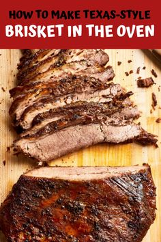 How To Make Texas-Style Brisket in the Oven Smoker Cooking meat smoker edmonton Beef Brisket Recipes, Meat Recipes, Bbq Beef, Point Cut Brisket Recipe, Cooking Recipes, Chicken Recipes, Diner Recipes, Game Recipes, Roast Beef