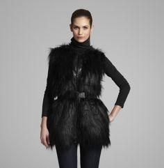 Faux Fur Vest. Kenneth Cole New York.