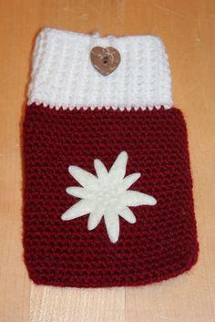 Handmade by Alpenkatzen Edelweiss, Christmas Stockings, Beanie, Holiday Decor, Hats, Handmade, Home Decor, Knitting And Crocheting, Nice Asses