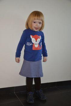 ViTess - Een jurkje van mama wordt een rokje voor Tess