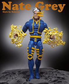 Nate Grey (Marvel Legends) Custom Action Figure by Babcsancustoms Base figure: Machine Man with Xorn Jacket and Arms