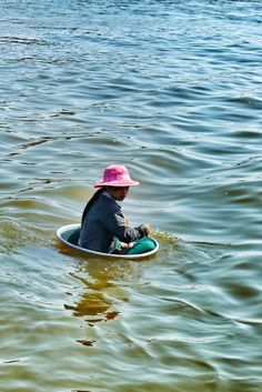 Young girl travels along the Mekong in Vietnam