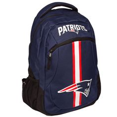 New England Patriots Backpack Sports School Casual Travel Laptop Backpack with a Head Wrap Thanksgiving Christmas Gift