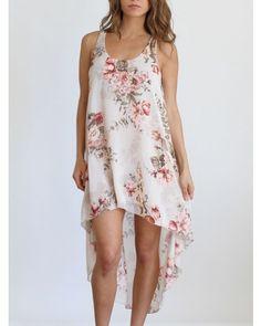 Floral fishtail dress.  Cute & Comfy