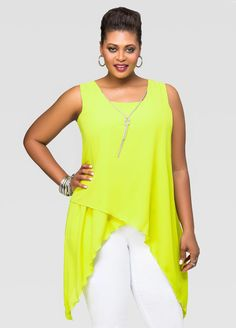 d58e2a473da1d Knot Necklace Sharkbite Blouse. Plus Size BlousesPlus ...
