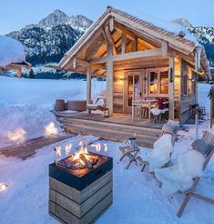 A place to share beautiful images of interior design, residential architecture and occasional other.Best Picture For Residential Architecture apartment For Your TasteYou are looking for something, and it is going to tell you exactly what you are Winter Cabin, Cozy Cabin, Winter Snow, Cabin Homes, Log Homes, Cabins And Cottages, Log Cabins, Cabins In The Woods, Cabins In The Snow