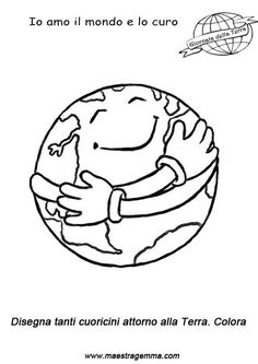 Happy Earth Day Coloring Pages for Kids - Preschool and Kindergarten Earth Day Coloring Pages, Colouring Pages, Coloring Pages For Kids, Coloring Books, Our Planet Earth, Save The Planet, Save Environment, Spanish Teaching Resources, Green School
