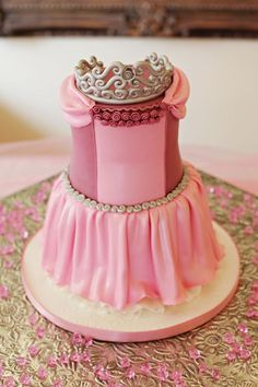 Either you are making your princess cake on your own or having someone make it. Rosemary Company has the Tiara cake topper to make your cake looking its best.