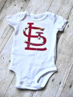 STL Cardinals baseball bodysuit by SydneyBelleBoutique on Etsy