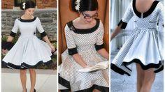 Schnittmuster für ein Teenkleid, Damenkleid, Sommerkleid mit Tellerrock bei Makerist