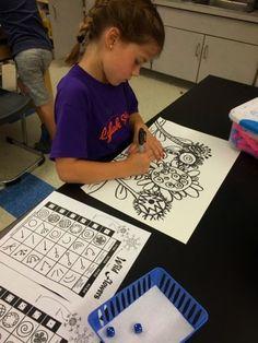 Jamestown Elementary Art Blog: Spring time roll a flower first grade