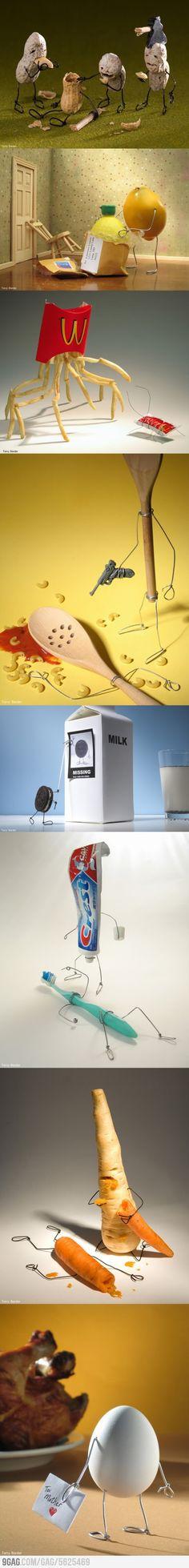 Humor gráfico con alimentos muy curiosos :)