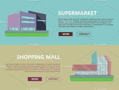 Shopping Mall Web Templates by robuart on @creativemarket