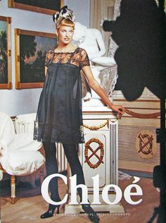 Linda Evangelista | Photography by Karl Lagerfeld | For Chloé | Fall 1994