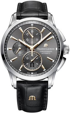 @mauricelacroix Watch Pontos Chronograph #add-content #basel-16 #bezel-fixed #bracelet-strap-leather #brand-maurice-lacroix #case-material-steel #case-width-43mm #chronograph-yes #date-yes #delivery-timescale-call-us #dial-colour-grey #gender-mens #luxury #movement-automatic #new-product-yes #official-stockist-for-maurice-lacroix-watches #packaging-maurice-lacroix-watch-packaging #style-dress #subcat-pontos #supplier-model-no-pt6388-ss001-331-1…