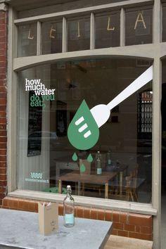 Wonderwater cafe at leila's shop london design festival 2012 Retail Signage, Wayfinding Signage, Food Signage, Restaurant Marketing, Restaurant Branding, Restaurant Restaurant, Cafe Design, Store Design, Menu Design