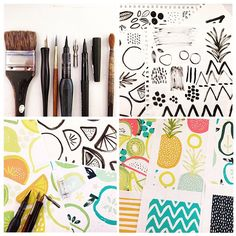 """""""Making a mess"""" Rosie's desk as she designs for Surtex"""