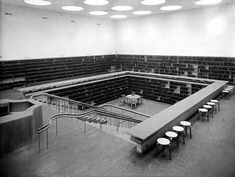 Finnish architect Alvar Aalto designed the Viipuri Library in 1927; this picture is from 1935. Border changes during the second world war mean it is now located in Vyborg, Russia.